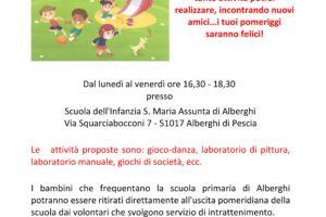 apertura vacanze natale scuola materna asilo nido Alberghi parrocchia s.mari assunta castellare pescia