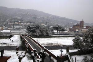 ponte dei Marchi con neve Pescia il tuo paese