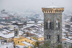 nevicata 2018 vista su centro storico Pescia il tuo paese