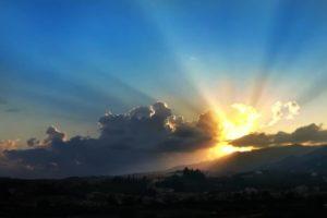 tramonto da Colleviti, di claudio minghi Pescia
