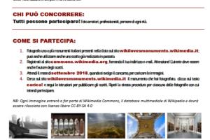 wiki loves monuments italia annuncio Pescia