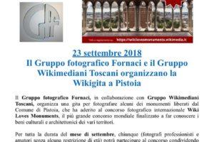Wikigita Pistoia 23 settembre 2018 Wiki Loves Monuments 2018 - Pescia