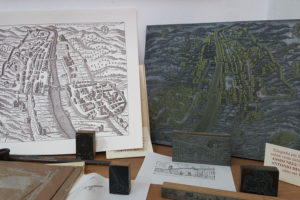 antica cartina città stamperia benedetti pescia