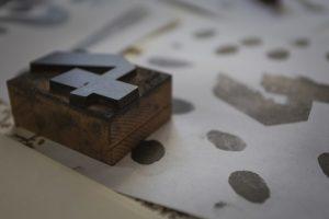 carattere in ciliegio, Stamperia Benedetti, tipografia storica toscana, Pescia