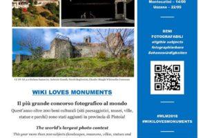 WIKIGITE locandina ufficiale wiki loves monuments 2018 Pescia
