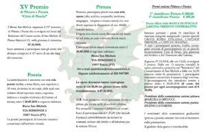 XV premio pittura poesia brochure rione san michele pescia