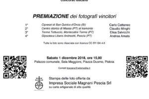 PREMIAZIONE REGIONALE LOCANDINA wiki loves monuments 2018 Pescia