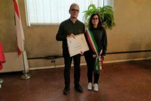 premiazione regionaleMinghi con Massa (consigliera) wiki loves monuments toscana, pescia