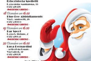 locandina letture negozi ascolta il tuo Natale a Pescia