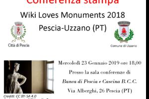 Volantino Conferenza Stampa Wlm18 wiki loves monuments Pescia