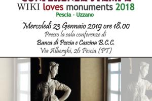 locandina conferenza stampa wiki loves monuments Pescia