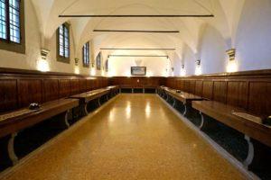 Convento Colleviti Refettorio vecchia riproduzione Cenacolo di Leonardo pescia