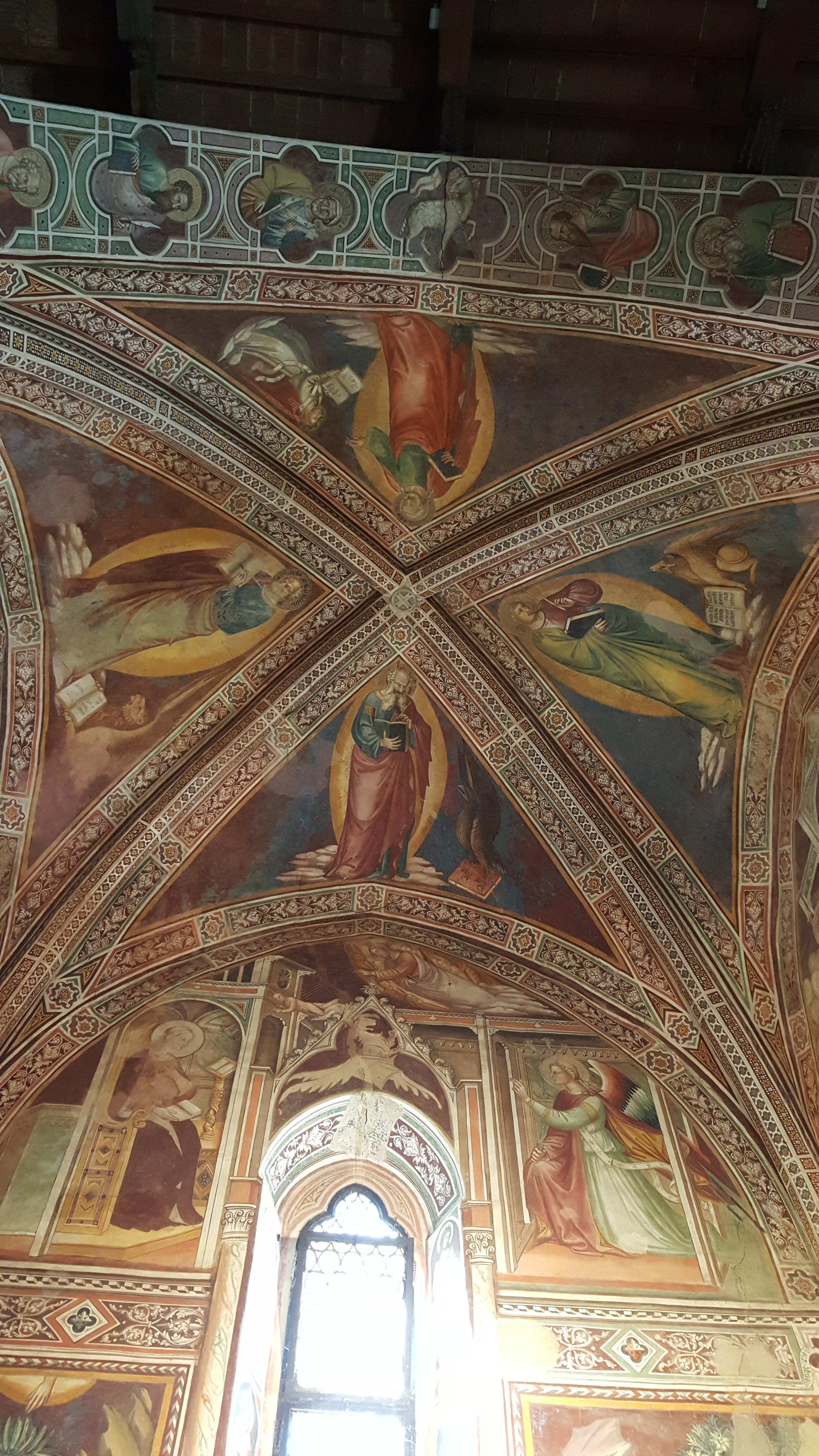 affreschi volta a vela chiesa sant'antonio abate pescia