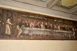 cenacolo tela vescovado cenacoli dipinti pescia