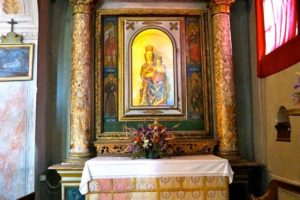 madonna con bambino chiesa santi bartolomeo e sebastiano castello collodi pescia