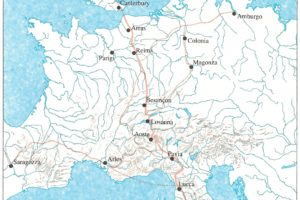 mappa via Francigena europea per pescia
