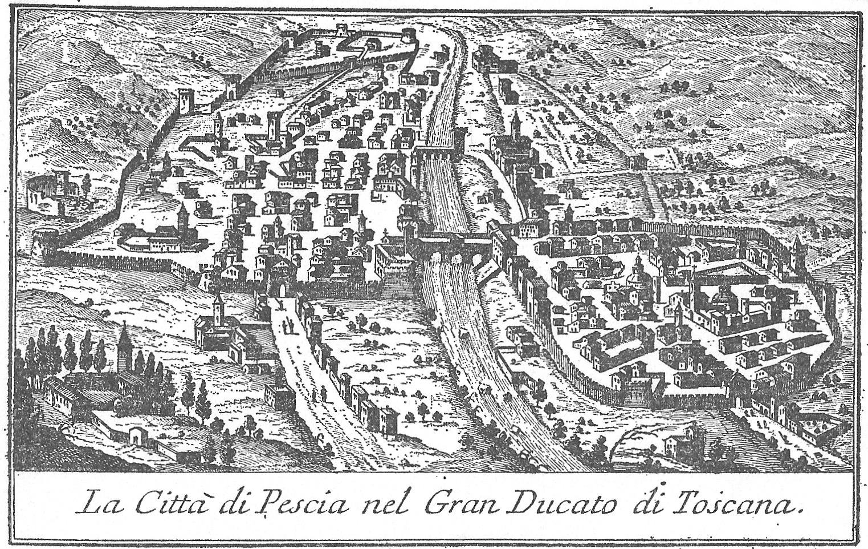 carta cartina mura città pescia