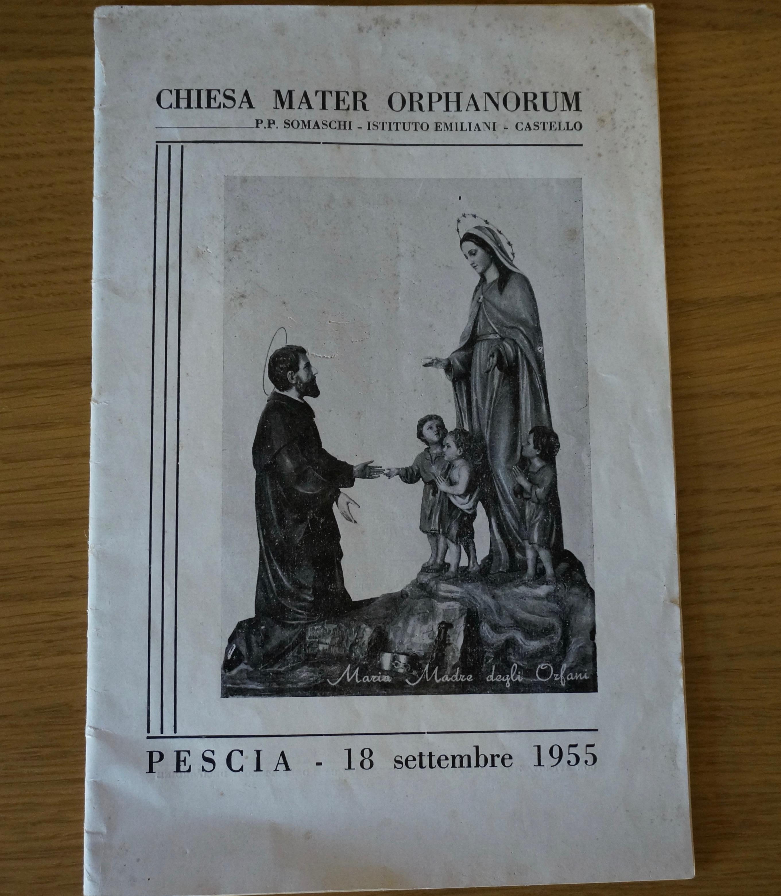 locandina chiesa mater orphanorum Somaschi castello pescia