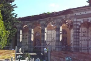 padiglione orientale crollato cimitero munumentale pescia