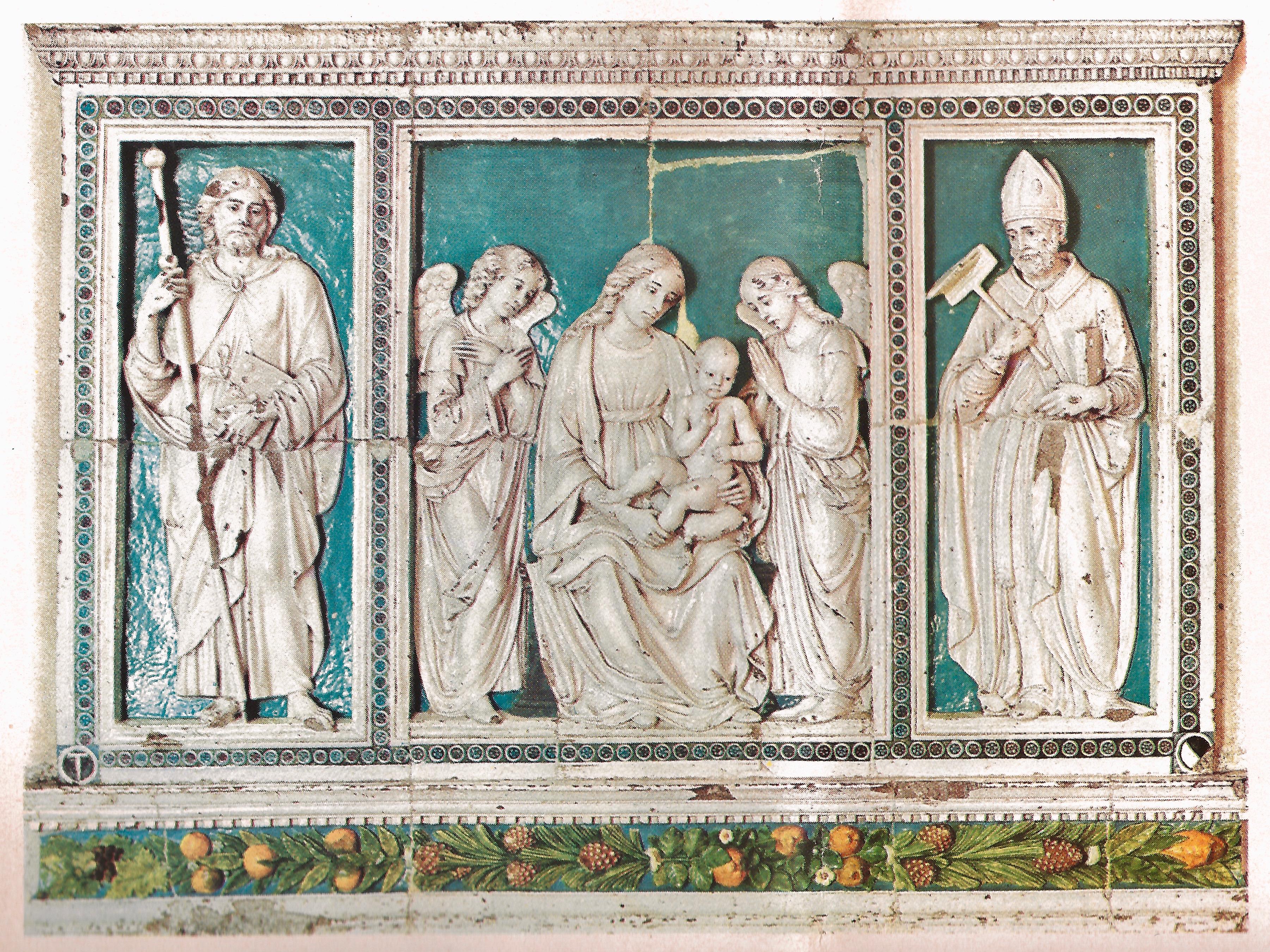trittico luca della robbia restauro cattedrale giubileo pescia