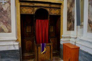 confessionale chiesa san michele convento casa nazareth castello pescia