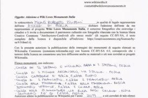 delibera wiki loves monuments chiese monumenti diocesi pescia