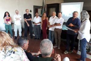 presentazione comune sindaco simposio scultori cava nardini vellano pescia