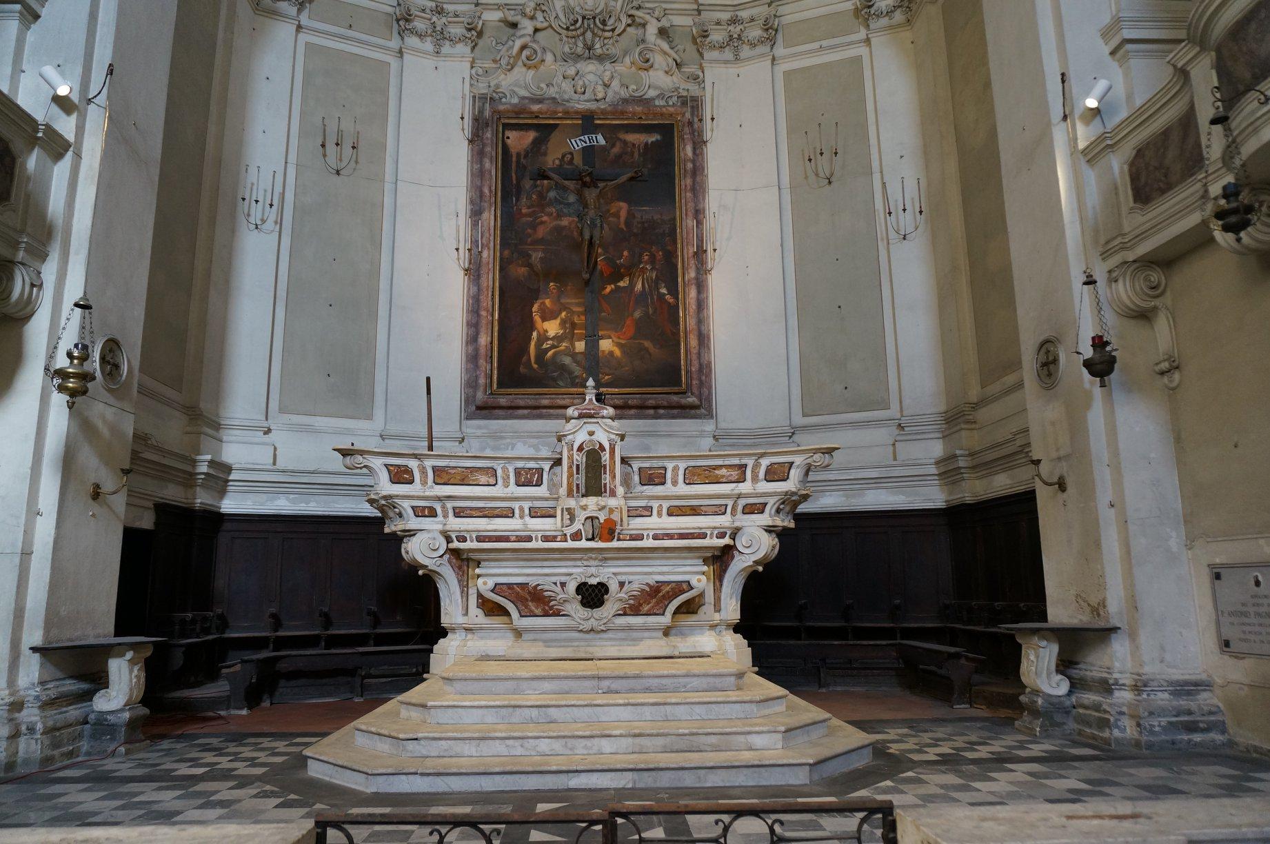 altare maggiore dipinto chiesa barocca santissima annunziata pescia