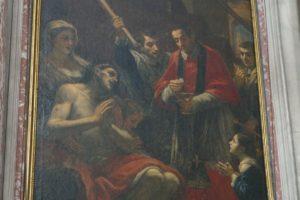 dipinto tela franceschini Volterrano san carlo borromeo chiesa annunziata pescia