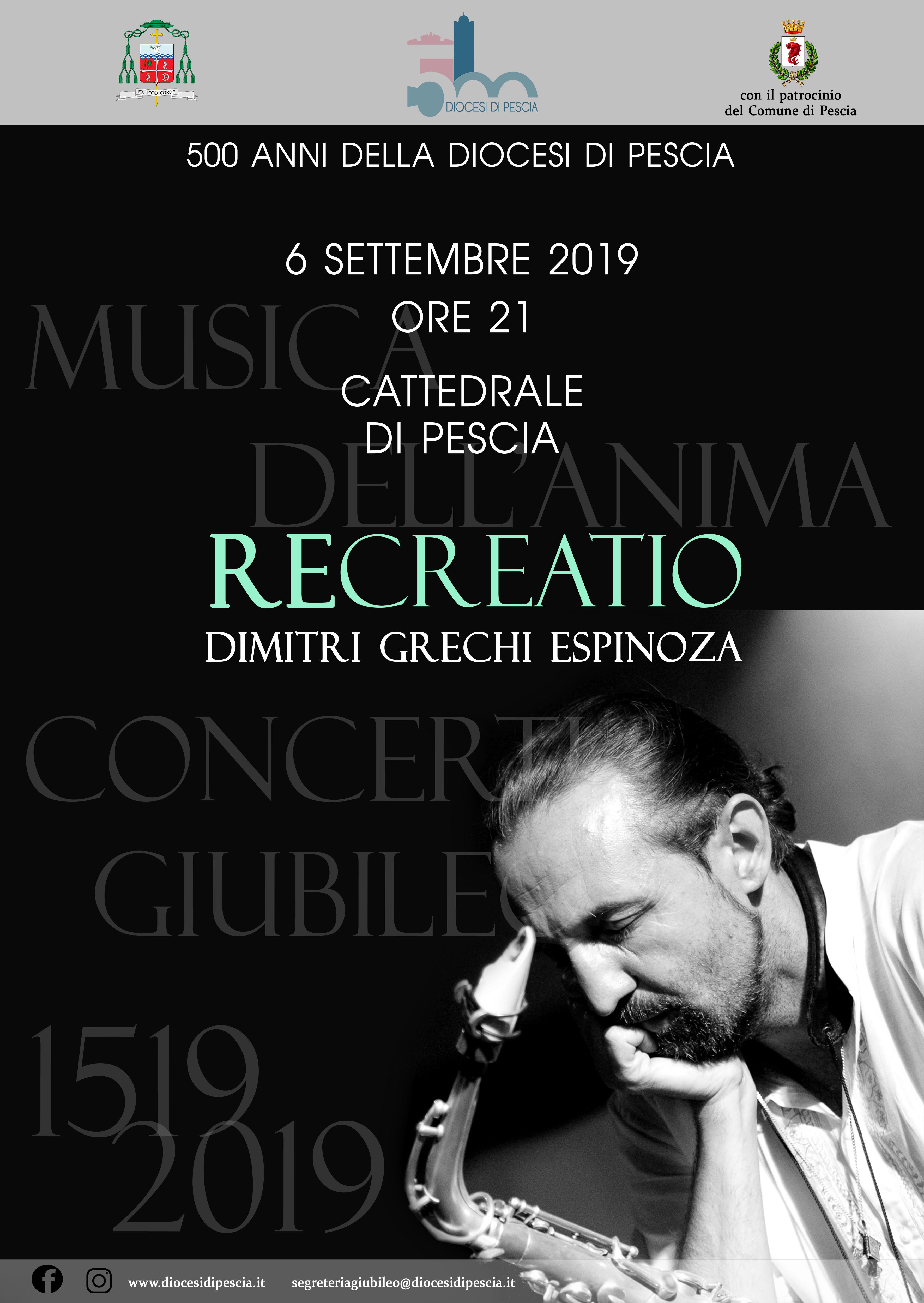 dimitri espinoza recreatio concerto giubileo cattedrale pescia