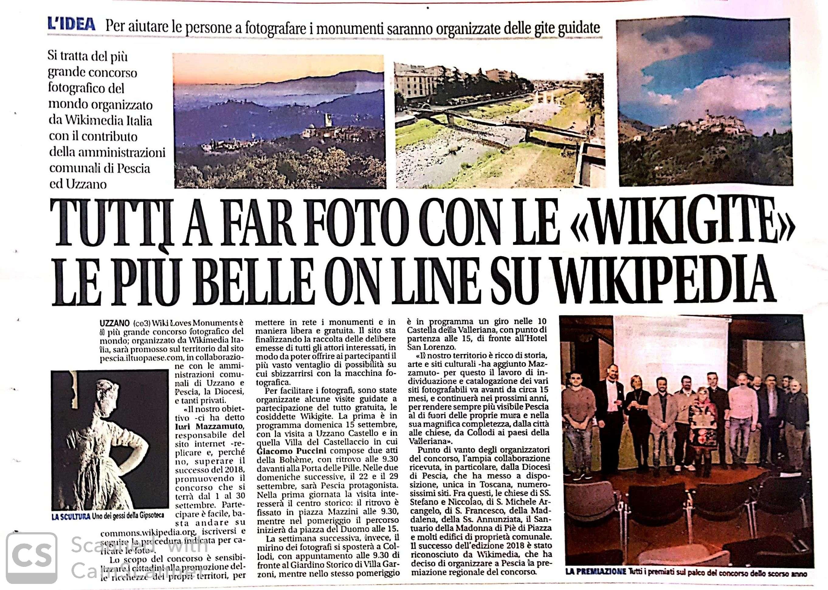 wiki loves monuments giornale pistoia e valdinievole pescia