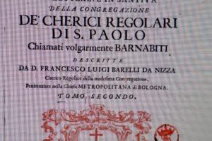 testo memorie libro storico Congregazione Nunziata Barnabiti pescia