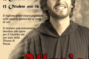 locandina Immagine volto Allucio musical patrono giubileo diocesi pescia