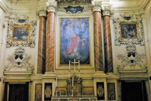 16 interni chiesa San Domenico, sotto San Filippo Neri in estasi, sopra San Domenico