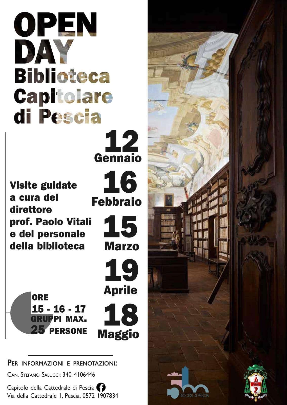 OPEN DAY CAPITOLO CATTEDRALE PESCIA