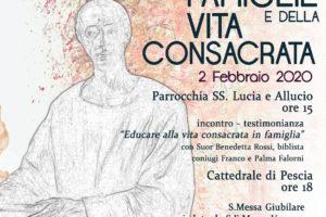giubileo famiglie vita consacrata 2 febbraio diocesi pescia