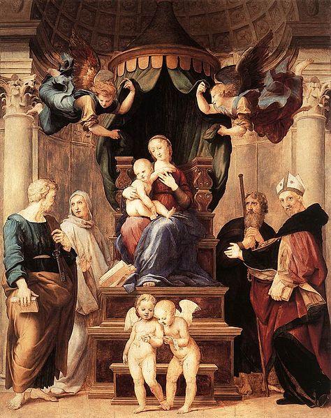 Madonna_del_Baldacchino raffaello dipinto palazzo pitti firenze