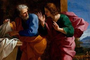 giovanni pietro sepolcro vuoto resurrezione Gesù pasqua pescia