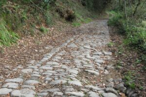 Antica strada Firenze-Lucca. The old road Florence-Lucca.