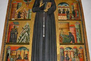 FN33 San Francesco, pala Bonanventura sulla vita del santo