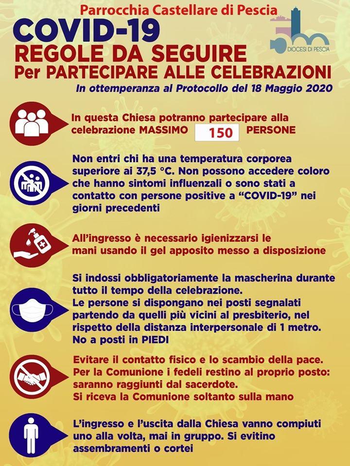 locandina-regole-per-partecipare-alle-celebrazioni-ufficiale parrocchie diocesi pescia