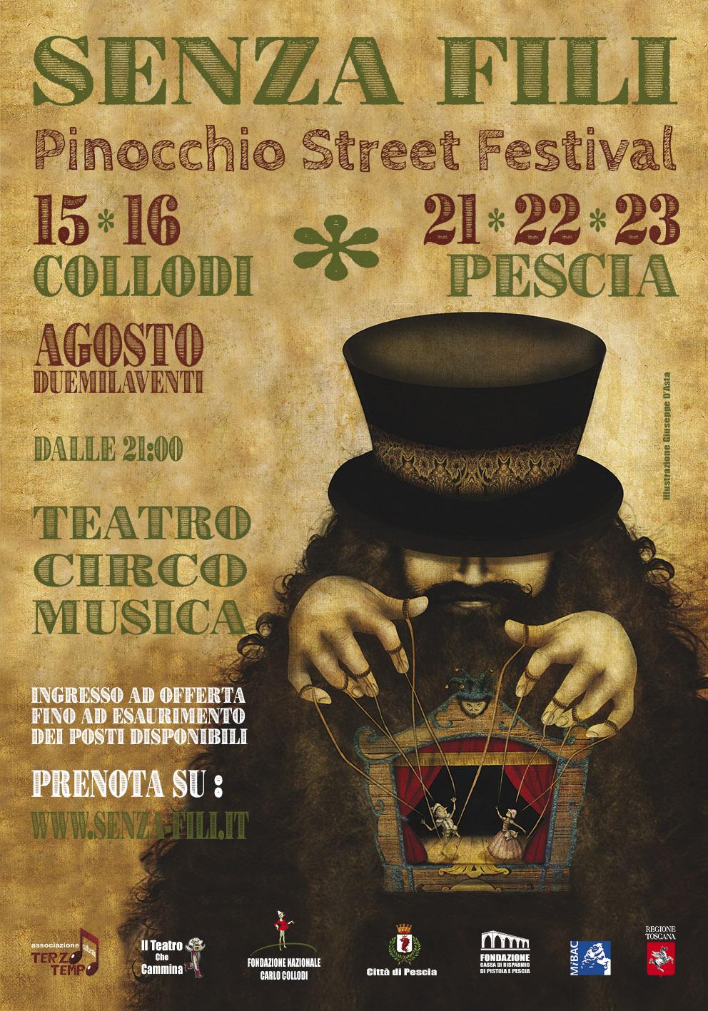 Pinocchio Street Festival Senza-fili Collodi Pescia