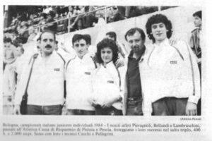 Bologna 1984 Lambruschini Atletica Pescia 1946 sport pescia