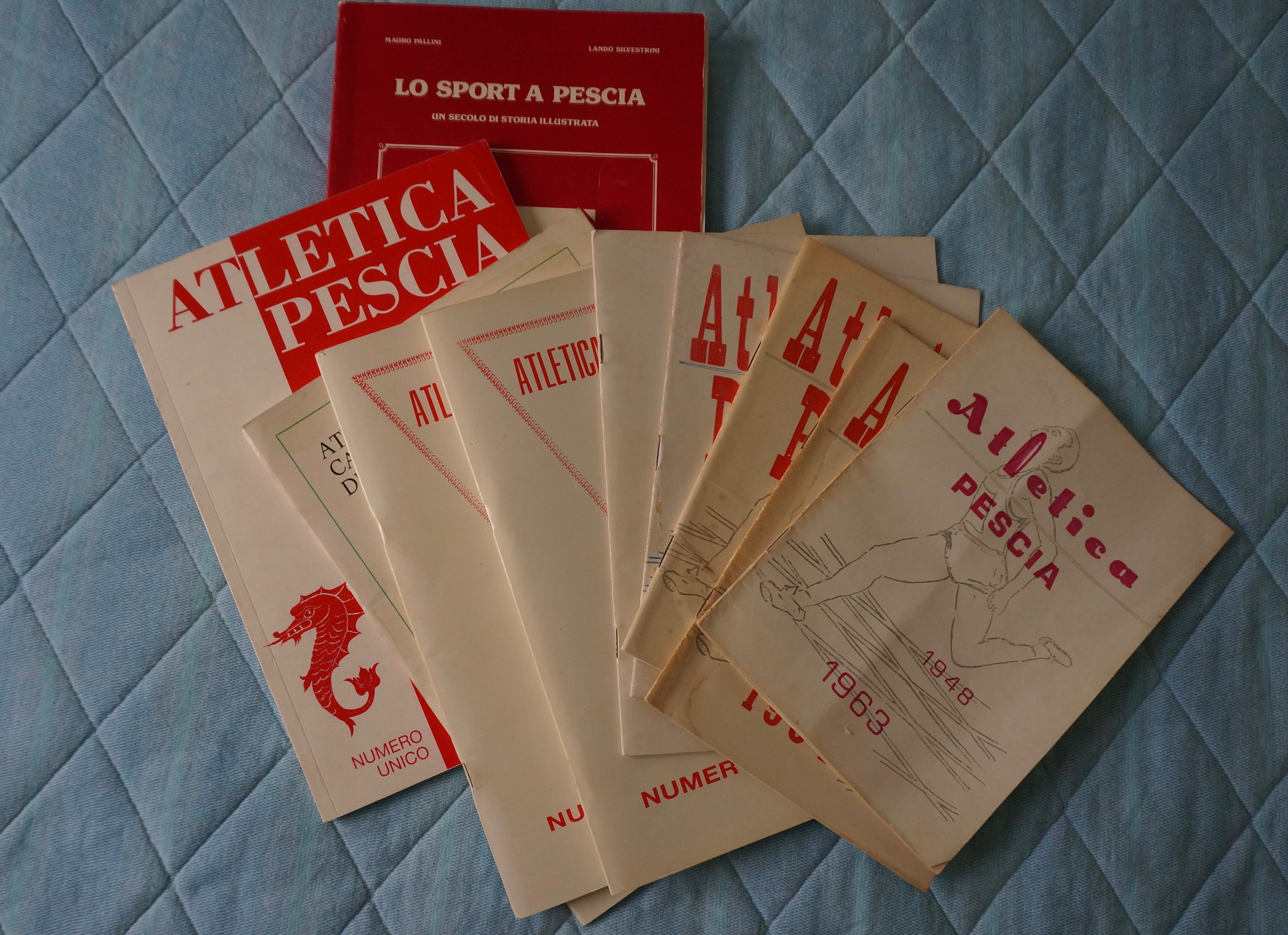 Atletica Pescia 1946 sport numeri unici pescia
