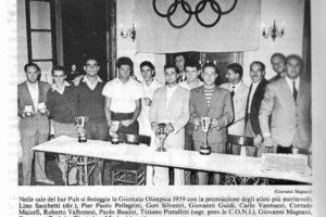 Premiazione 1959 Atletica Pescia 1946 sport pescia