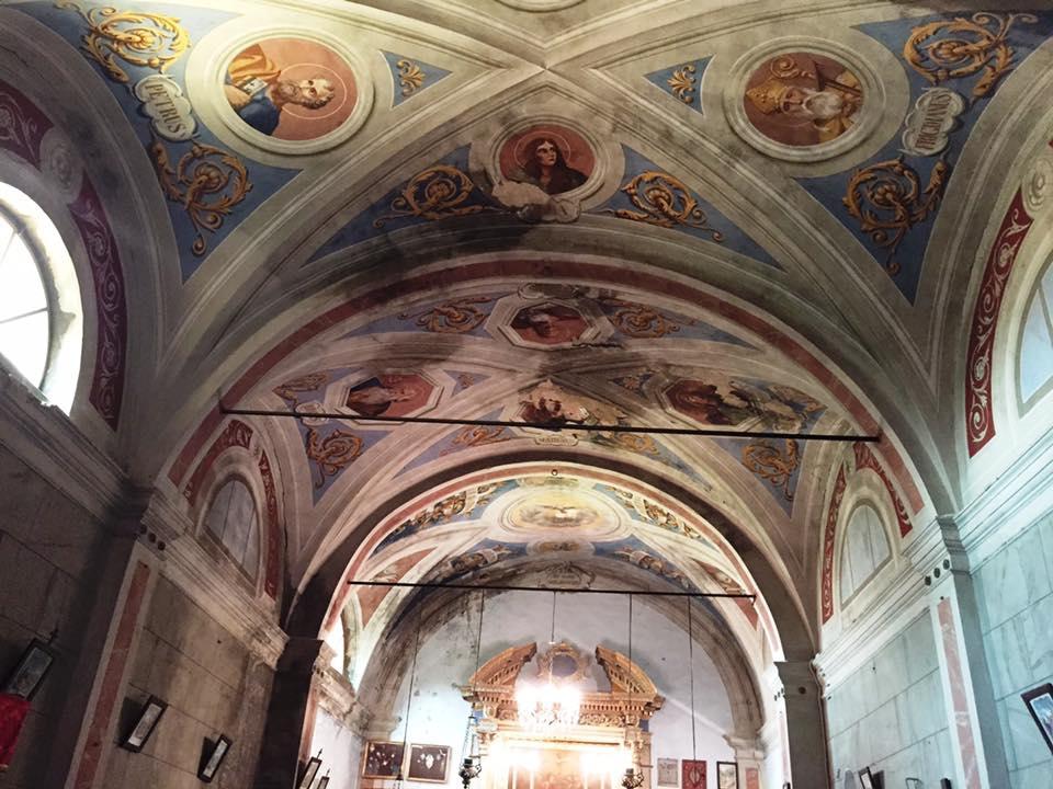affreschi volte Oratorio S.Maria vergine chiesa Aramo percorsi storici Birindelli Pescia