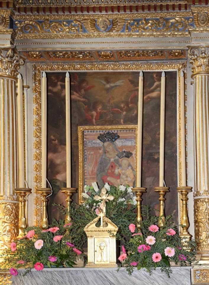 altare dedicazione quadro Oratorio S.Maria vergine chiesa Aramo percorsi storici Birindelli Pescia