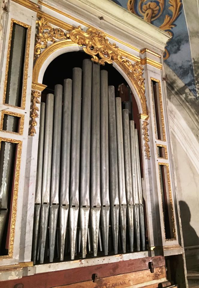 canne organo Oratorio S.Maria vergine chiesa Aramo percorsi storici Birindelli Pescia