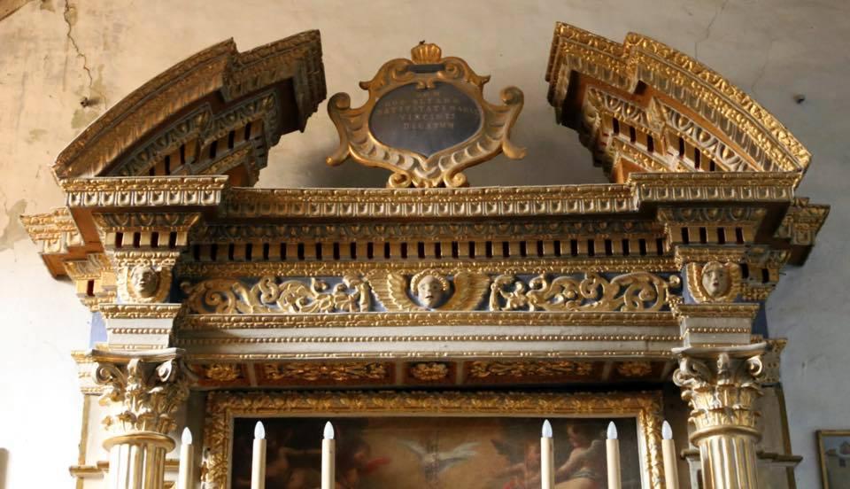 capitelli altare Oratorio S.Maria vergine chiesa Aramo percorsi storici Birindelli Pescia