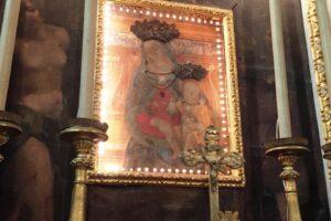 quadro altare Oratorio S.Maria vergine chiesa Aramo percorsi storici Birindelli Pescia